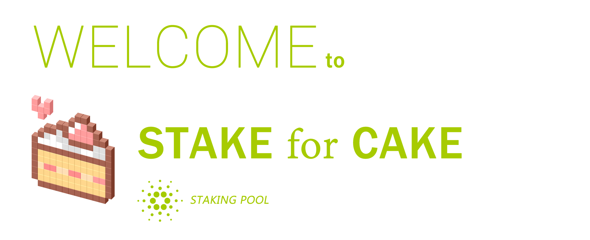 Stake for CAKE welcome header